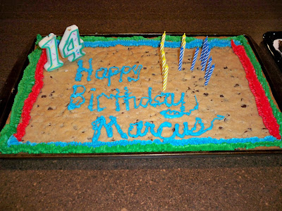 14th birthday cake. Happy 14th Birthday Trevor and