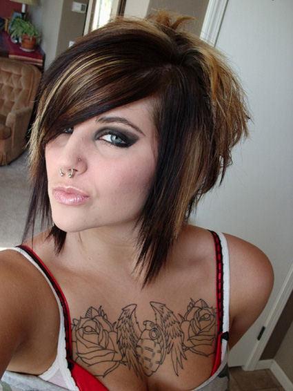 women chest tattoo