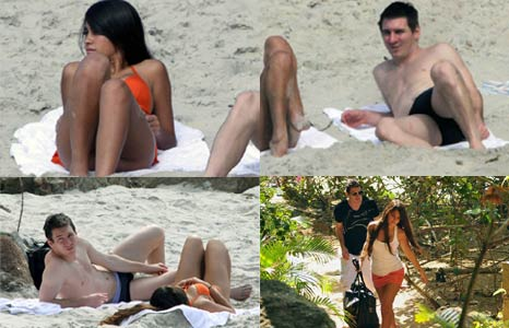 LIONEL MESSI GIRLFRIEND KISS