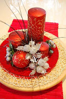 Centerpieces for a Christmas Wedding