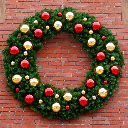 Christmas ideas christmas wreath decoration ideas Outdoor christmas garland ideas