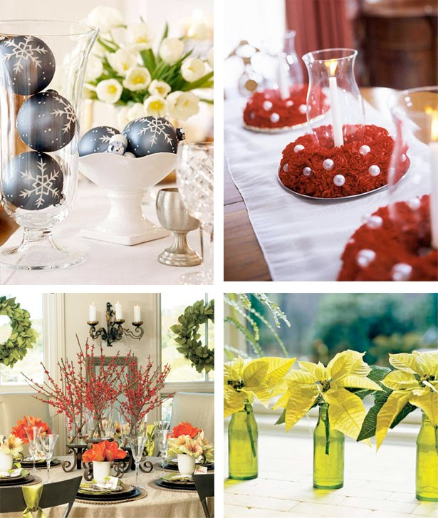 Christmas ideas christmas centerpiece decorations for Cheap holiday decorations
