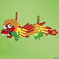 Chinese New Year Dragon Accordion Puppet