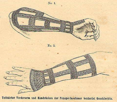 Pohnpei Arm Tattoo 1873