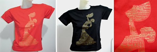 T-shirt BAB006 Bailaora in black or red - US$ 25.00