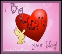 Red puffy heart Award