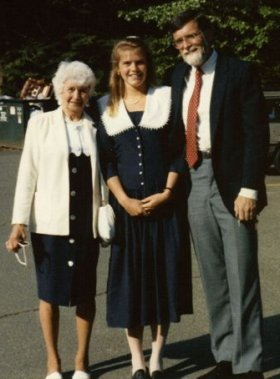 Nana, Julie and Dad, UCONN graduation 1991