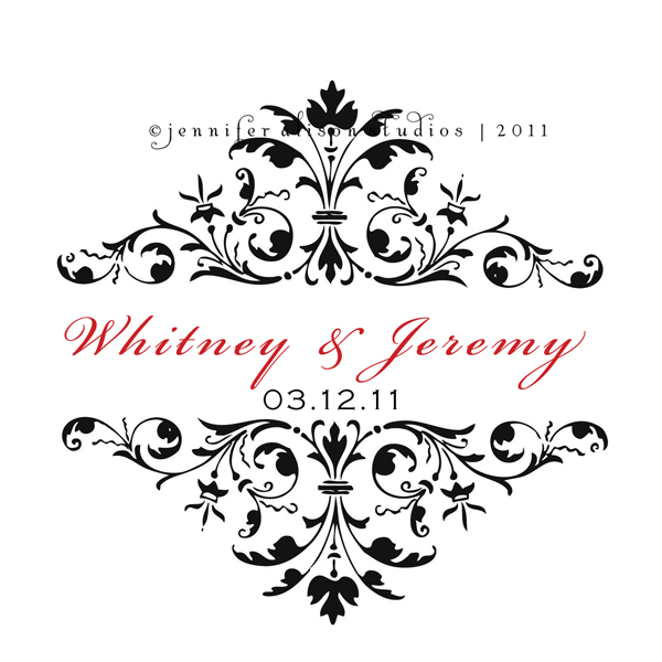 Wedding Monograms Business Logos Custom Invitations Jennifer Alison