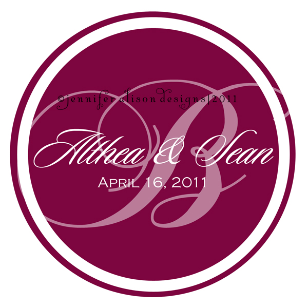 Althea Sean round wedding logo By admin Published February 6 2011
