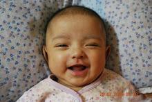 3 months old- 5.3kg