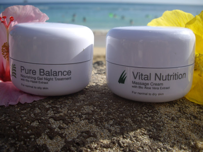 VITAL NUTRITION MASSAGE CREAM AND PURE BALANCE NOURISHING GEL NIGHT TREATMENT