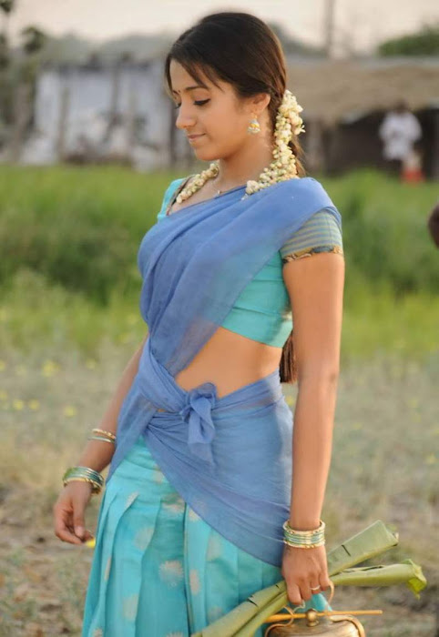 trisha krishnan in half saree actress pics