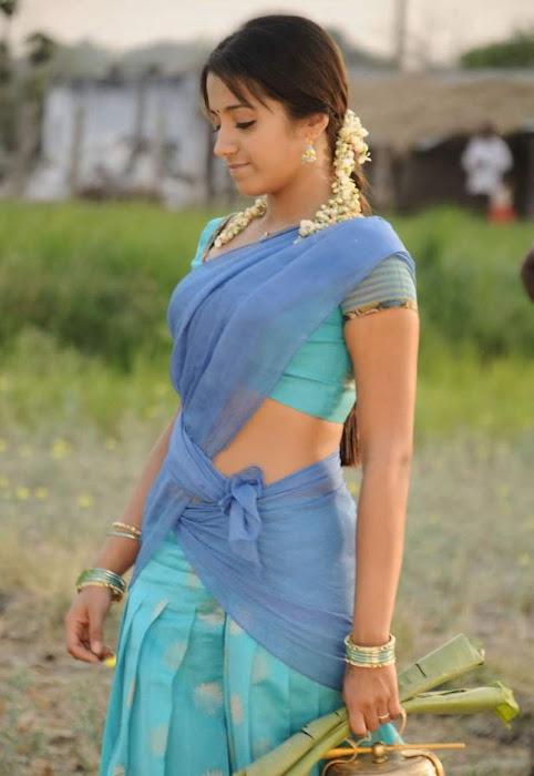 trisha krishnan in half saree actress pics