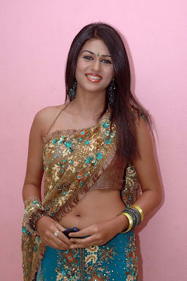 actress hot saree navel show