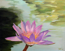 Lotus bloem (Acryl op doek)