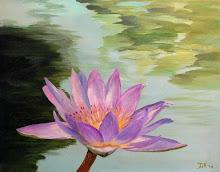 Lotus bloem (Acryl op doek)