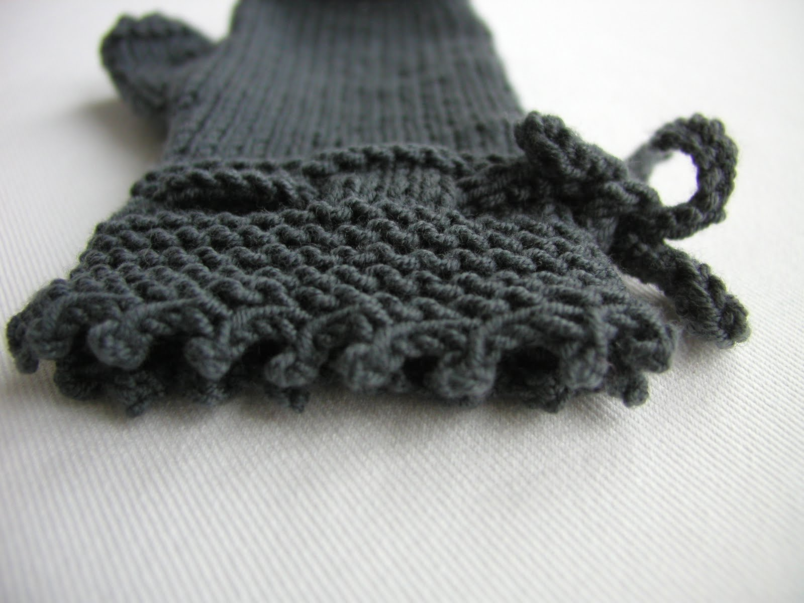 Hand Knitted Things: Picot Edge Cast Off