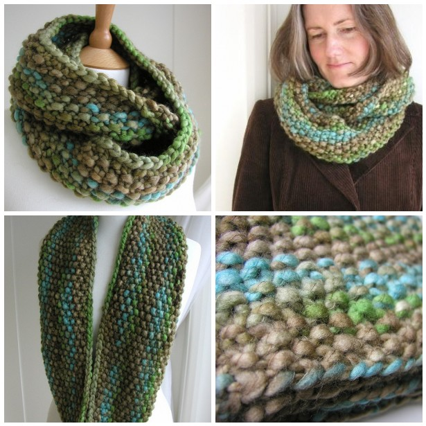 Knitting Pattern For Scarf In The Round : Hand Knitted Things: Indie Circular Scarf Instructions