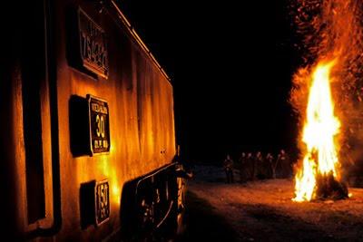 Mocanita pe CFF Viseu de Sus | Tren special sub luna plina