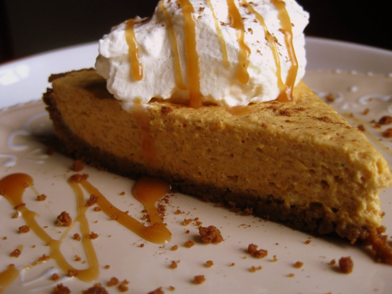 fat bottom: pumpkin mousse pie with a gingersnap cookie crust