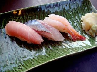 Good Looking Toro, Saba (Mackerel)and Amaebi (Sweet Shrimp)