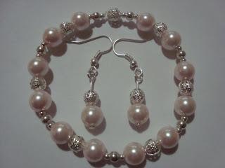Pulseritas con perlas y rondeles!!!
