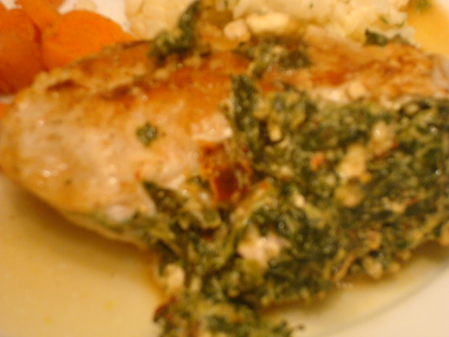 ... stuffed with goat cheese spinach and goat cheese stuffed pork chops