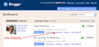 Blogger in Draft's Dashboard