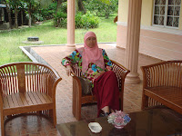 My beloved Wife at my parent's house in Lenggeng