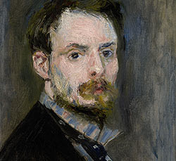 Autorretrato. Pierre-Auguste Renoir. 1875