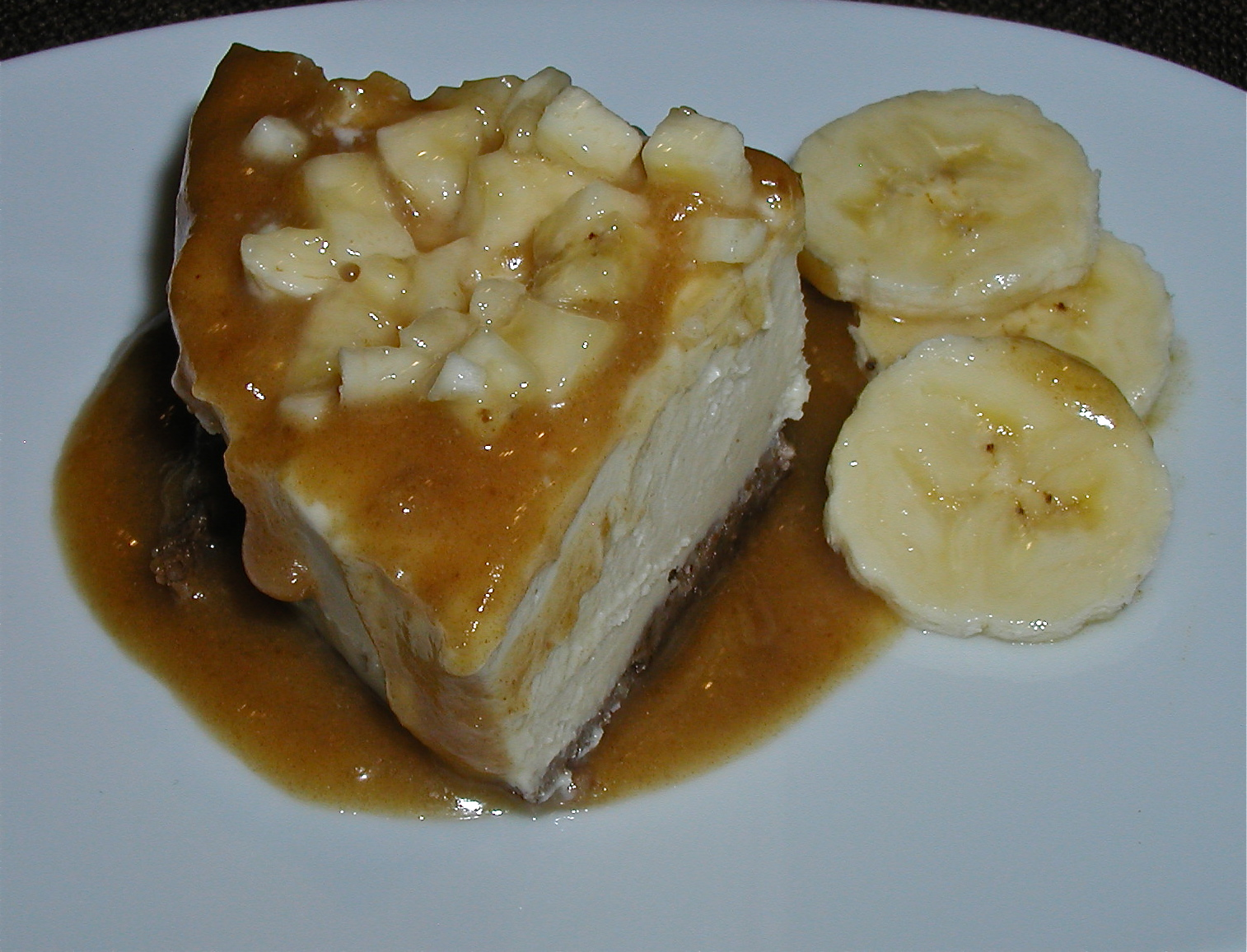 Getting Raw Raw Bananas Foster Cheezecake