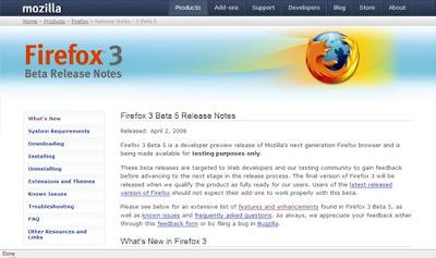 Firefox 3 Beta 5