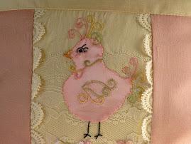 silk dupioni bird picture