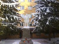 памятник Ленину в городе Лысково