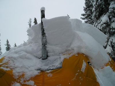 There was about 30 inches of the wet snow built up and the tents held up. This is not suggested but the customer was impressed with the Arctic Oven tent. & Alaska Tent and Tarp Home of the Arctic Oven: Check out the snow ...