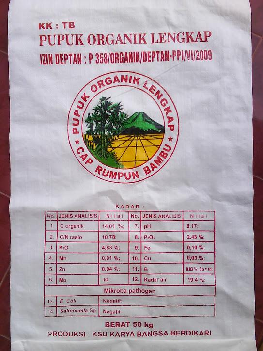 Pupuk NPK Organik Cap Rumpun Bambu