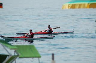 Mario e Nerrajaq sul lago di Garda
