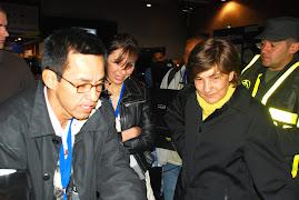 Con la Ministra de Educación en el 2008
