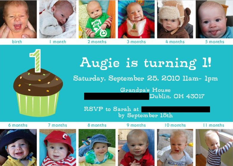 The truth is Augie won't likely have any memories of his first birthday