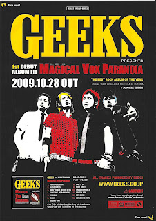 GEEKS, Tokyo Rock band flier. for new album side A