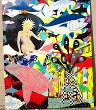Pantelis Klonaris-well known local Artist displays his Art in Bangz Park Avenue Salon
