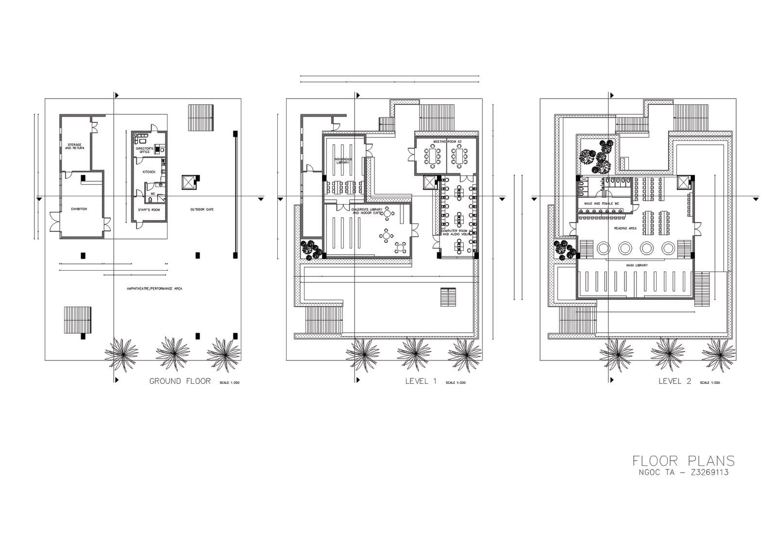 Elevation Plan Scale : Irene ngoc ta design studio assignment matraville