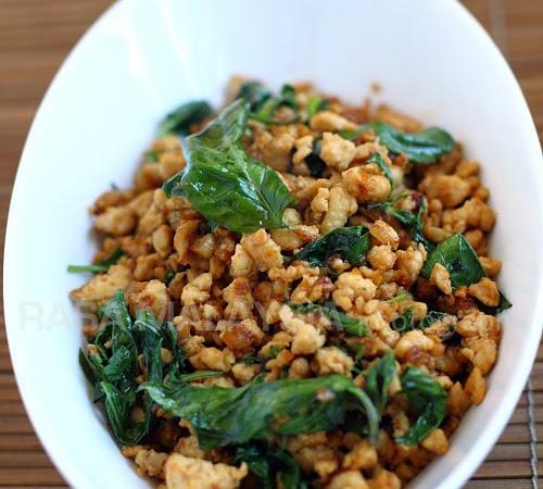 Delish!  Spicy Thai Basil Chicken!
