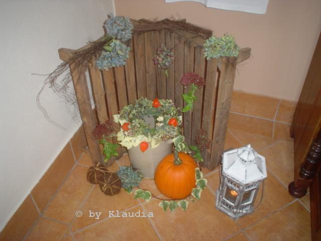 Klaudia s kreative world herbstdeko mein zweiter kranz - Obstkisten dekorieren ...