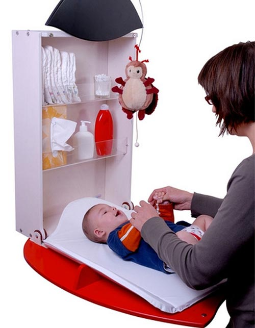 Moderno cambiador para bebes owo que ahorran espacio for Mueble cambiador para bebe