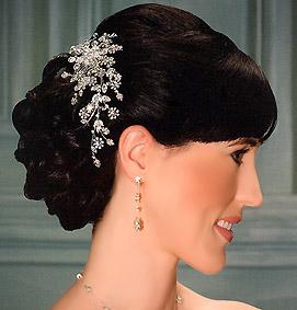 Hearmosa tiara con pedrería de cristal de Swarovski