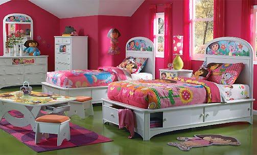 Dormitorios tem ticos para ni os de bob esponja y dora la - Habitaciones decoradas para bebes ...