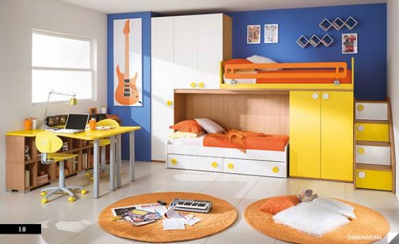 Dormitorios para ni os y ni as columbini decoracion de - Dormitorios para ninos ...