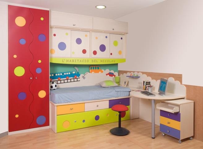 Color en las habitaciones para ni os decoracion endotcom - Habitaciones infantiles barcelona ...