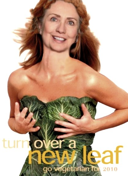 Green lettuce dress hillary clinton PETA dress vegetable